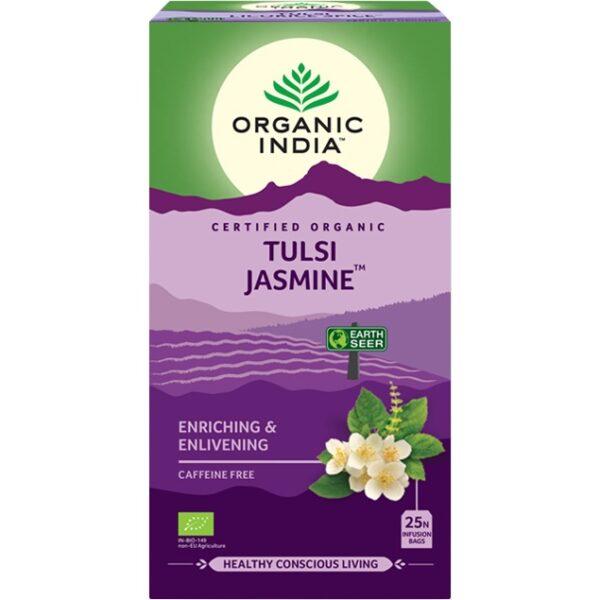 Porciovaný čaj Tulsi Jazmín od Organic India