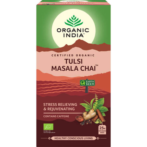 Porciovaný čaj Tulsi Masala Chai od Organic India