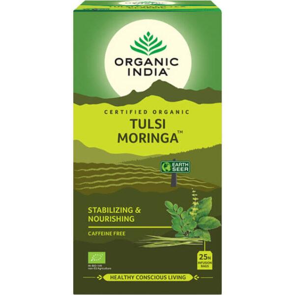Porciovaný čaj Tulsi Moringa od Organic India