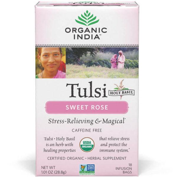 Ajurvédsky čaj Tulsi Sladká ruža od Organic India