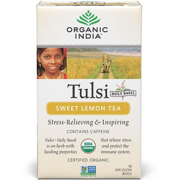 Ajurvédsky čaj Tulsi Sladký citrón od Organic India