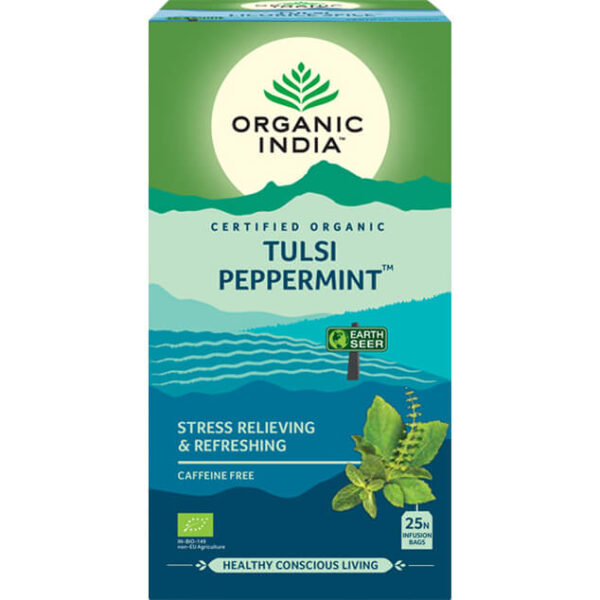 Ajurvédsky čaj Tulsi s mätou od Organic India