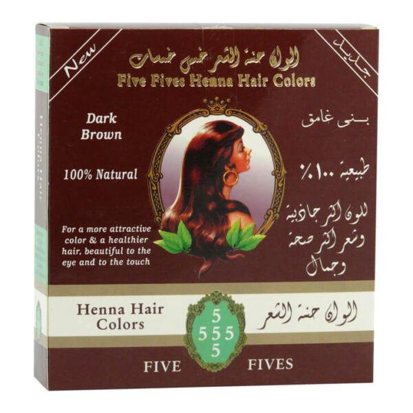 Henna tmavohnedá 100 g od Five Fives
