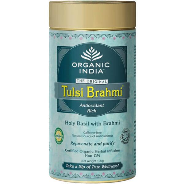 Tulsi Brahmi sypaný čaj 100 g od Organic India