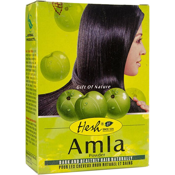 Bylinný práškový šampón Amla 100 g od Hesh