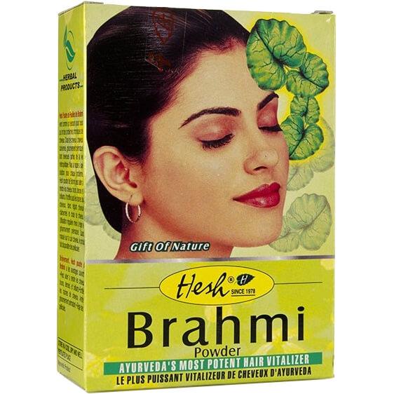 Bylinný práškový šampón Brahmi 100 g od Hesh