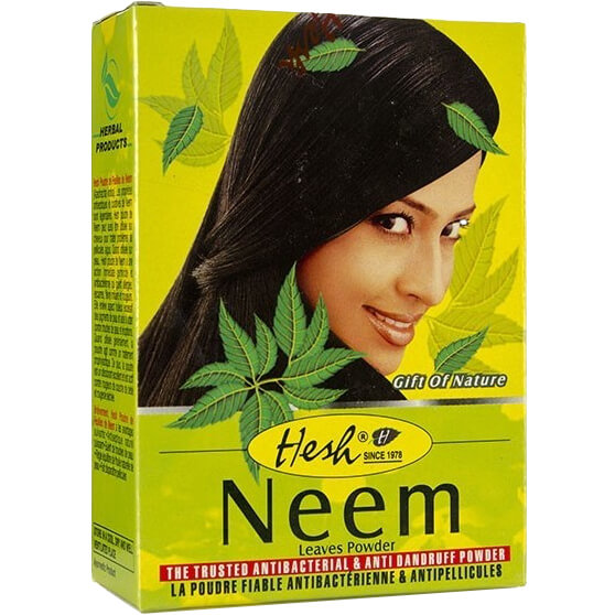 Bylinný práškový šampón Neem 100 g od Hesh
