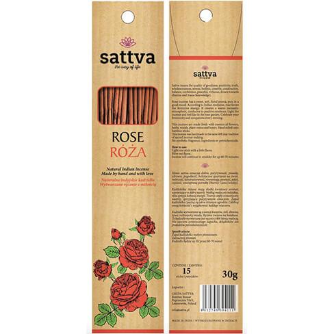 Ručne vyrobené vonné tyčinky Ruža 15 ks od Sattva