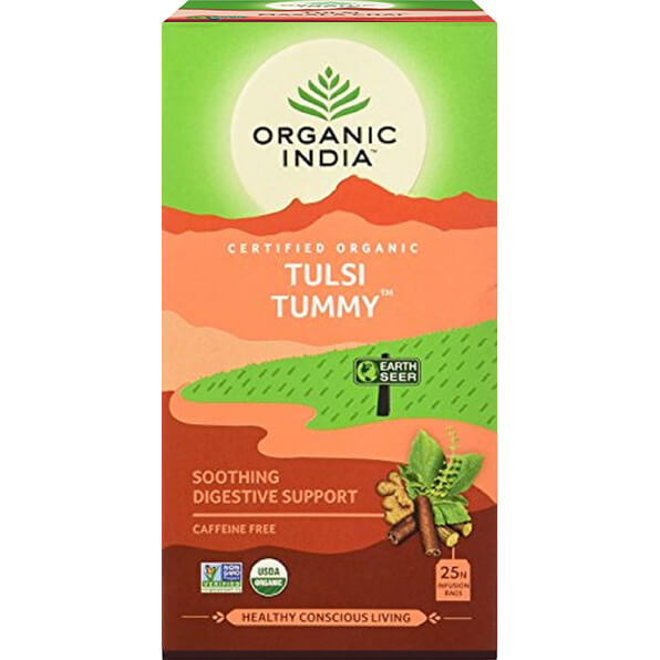Porciovaný čaj Tulsi Tummy od Organic India
