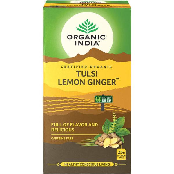 Porciovaný čaj Tulsi s citrónom a zázvorom od Organic India