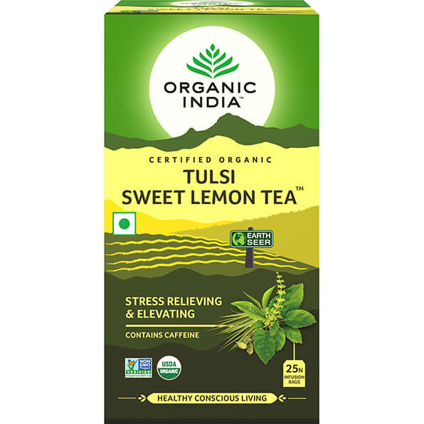 Porciovaný čaj Tulsi Sladký citrón od Organic India