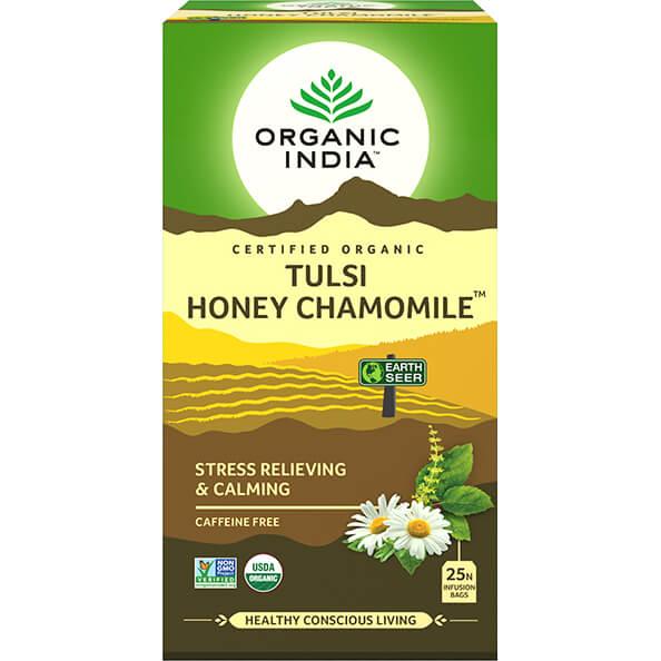 Porciovaný čaj Tulsi s harmančekom a medom od Organic India