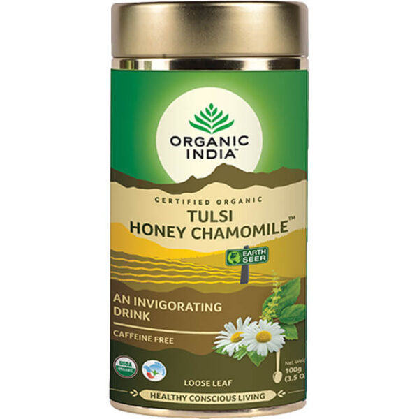 Sypaný čaj Tulsi s harmančekom a medom od Organic India